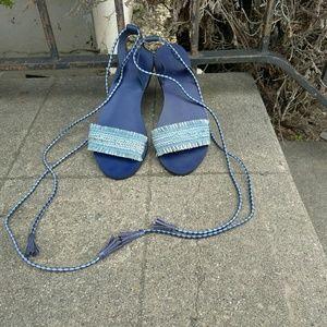 J crew wrap sandals